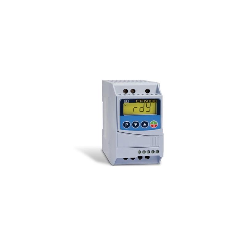 Variador de velocidad de 1.00 H.p 220 vca monofasico 0.75 Kw sin transistor de frenado  codigo CFW100C04P2S220 Mca. WEG