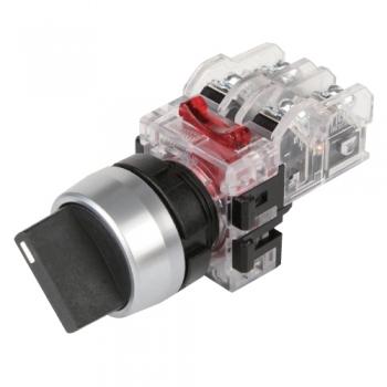 Selector 2 posiciones sostenido en aluminio 22mm 1na + 1 nc Mca. HANYOUNG