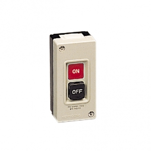 Estación de botones trifásica con botones on-off  15 amp 250vca con caja plástica  Mca. HANYOUNG