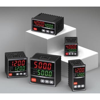 Control de temperatura digital 1/16 Din 48x48 entrada multi-input , salidas SSR + RELE + 4-20mA + 2 ALAR 100-220VCA Mca. HANYOUNG