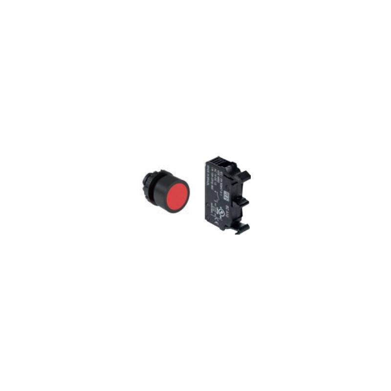 Boton rasante rojo con 1NC 22 mm diametro IP66  Marca. WEG