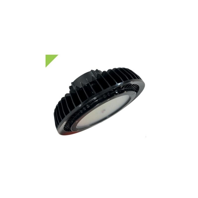 Luminario uso industrial serie UFO 150w con fuente de poder incluida 100-220 VCA  IP65 de 5000 °K Mca. Energain.