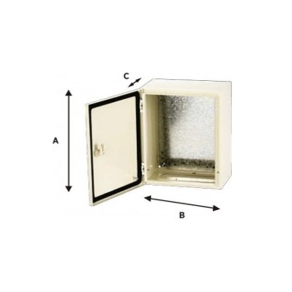 Gabinete Metálico 600X400X250mm con Platina IP-66 ARGOS