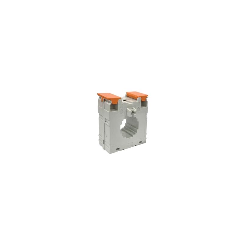 Transformador de corriente tipo Dona  relación 500 a 5 clasificación de aislamiento B 50/60Hz para montaje en panel o en riel Din terminales cubiertas