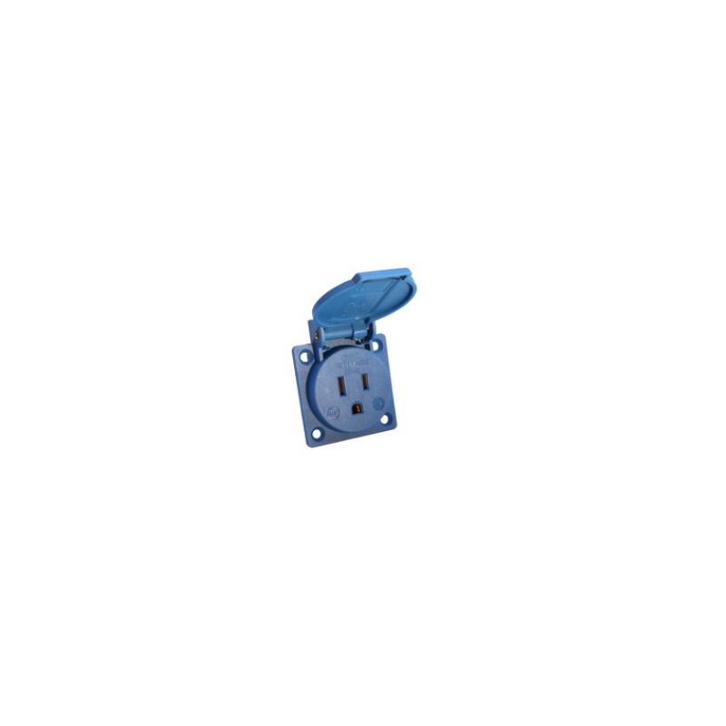 Toma corriente color azul código americano Marca Altech