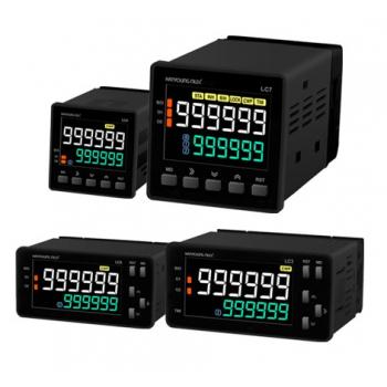 Contador 2 predeterminados con batch 48x48mm 4 dígitos 100-240vca input NPN-PNP salida SSR y Relay 2NA+2NC 3A 240vca Hanyoung
