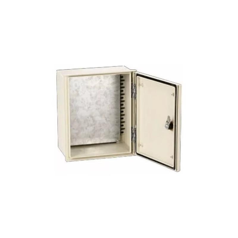 Gabinete de poliester 400x300x200mm IP-66 incluye platina con 2 chapas ARGOS