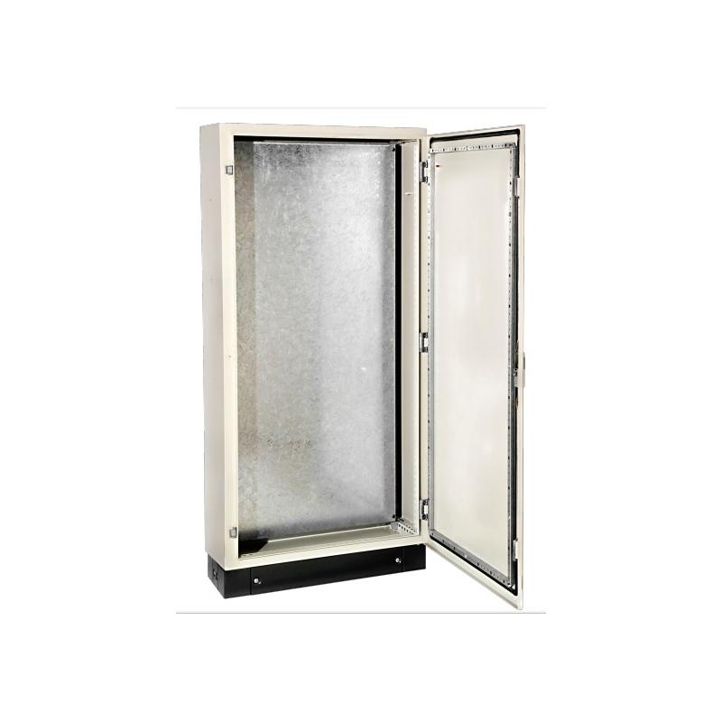 Armario metálico monoblock con placa de montaje y zócalo 2000x800x400 IP-55 , pintado con resina epoxi-poliester texturizada ARGOS