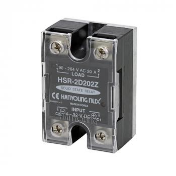 Relevador de estado solido 44x64mm entrada 4-32vcd carga 40amp de 90-264vca HANYOUNG