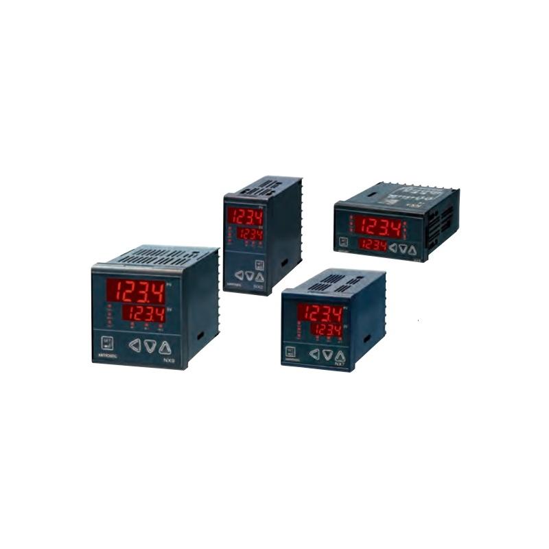 Control de Temperatura 48x96mm control de rampa, entrada universal, PT100,  de 1-5vcd 10-20mV 0-100mV 4-20mA Salida SSR y 2 alarm
