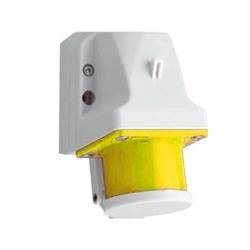 Receptáculo 2P+T 32A 100-130V amarillo de Sobreponer IP44 ALTECH