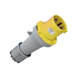Clavija Macho 32A  100-130V amarilla IP44 ALTECH