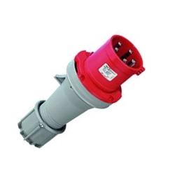 Clavija  3P+T 16A 440-480V rojo IP67 Macho ALTECH