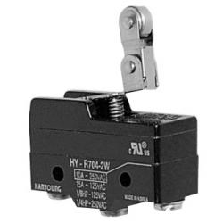 Micro Switch de 2 posiciones en la palana de rodillo 1NA+1NC 10amp 250vca HANYOUNG