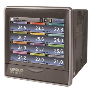 Registrador de temperatura digital entrada 4 canales 6 salidas 2 dig + 6 relay com RS422/485 de 100-240 vca HANYOUNG