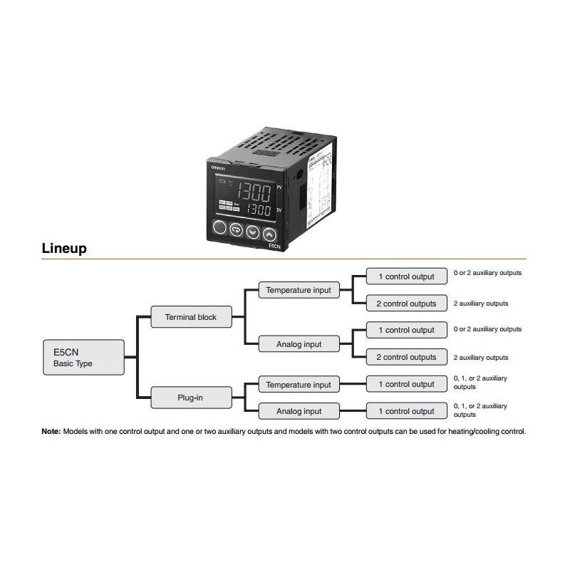 Control de Temp.Digital 1/16 Din entrada de sensor de temperatura  ( RTD o TERMOCOPLE) salida a relevador alimentación 100-240vca consumo 7.5va, Mca O