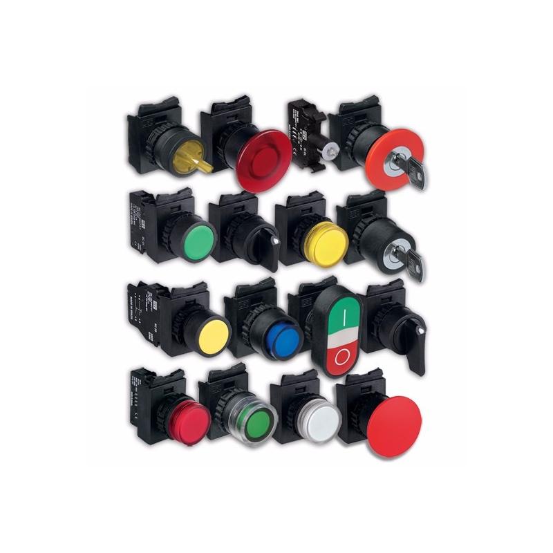 Estacion de boton gris PVC con selector de 2 posiciones fijo con retorno maneta corta  con 1NA IP66  12204335 mca Weg