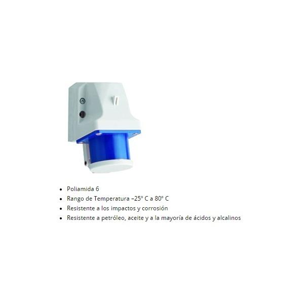 Receptáculo 2P+T 32A 220-250V azul de Sobreponer IP44 ALTECH