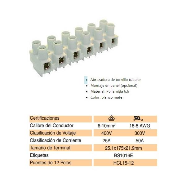 Conector de Bornes para cal. 18-8 AWG ALTECH